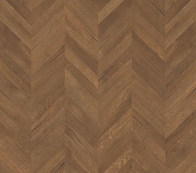 Herringbone Plywood Floor